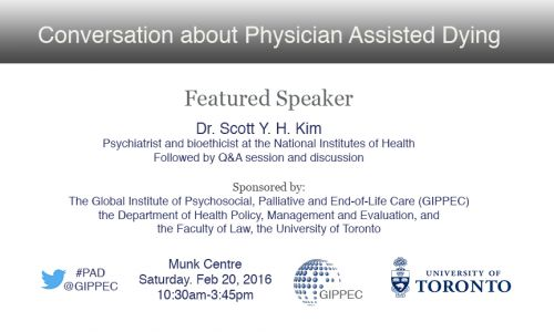 Conversation about Physician Assisted Dying